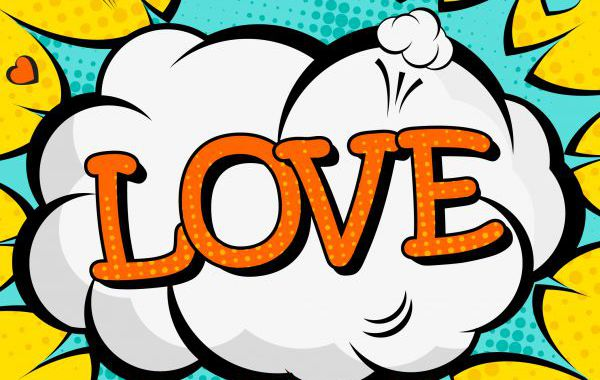 Pop Art Design Love Liebe